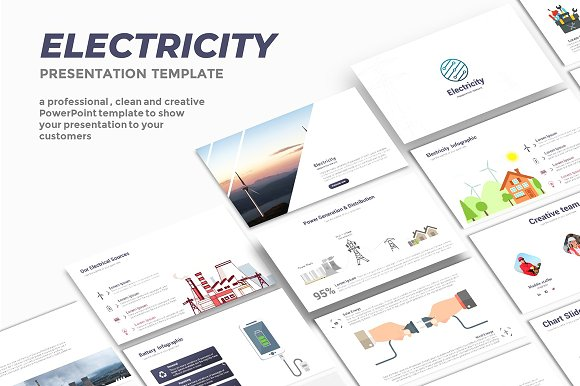 Electricity powerpoint template presentation templates creative electricity powerpoint template presentation templates creative market toneelgroepblik Choice Image