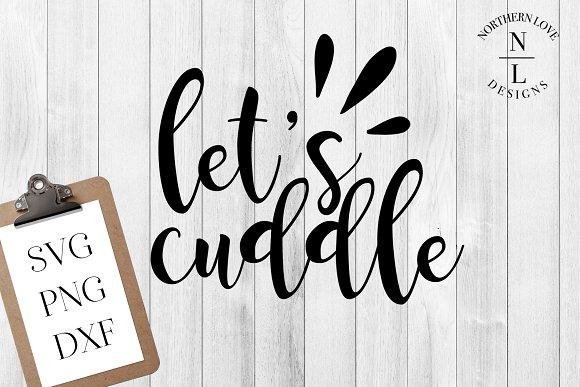 Let's Cuddle SVG PNG DXF