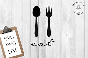 Eat SVG PNG DXF