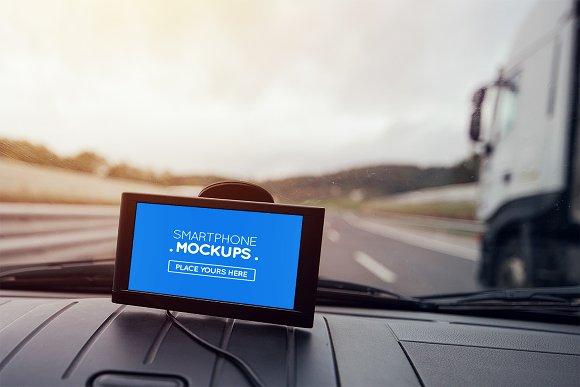 Smartphone In Car Mockup #14