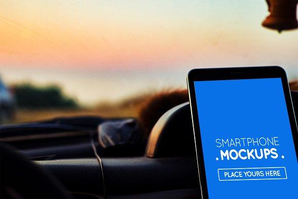 Smartphone In Car Mockup #20