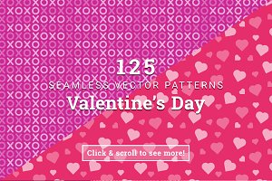 125 Valentine's Day Vector Patterns