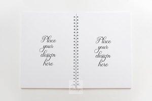 Notebook Mockup blank spiral notepad