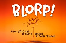 BLORP! A fun, weird little font!