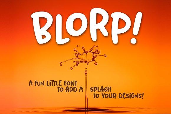 BLORP A Fun Weird Little Font