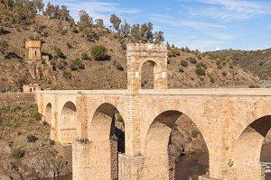 Roman bridge of Alcantara in Cáceres