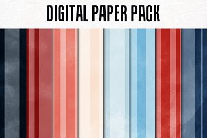Digital Paper Pack: Stripes