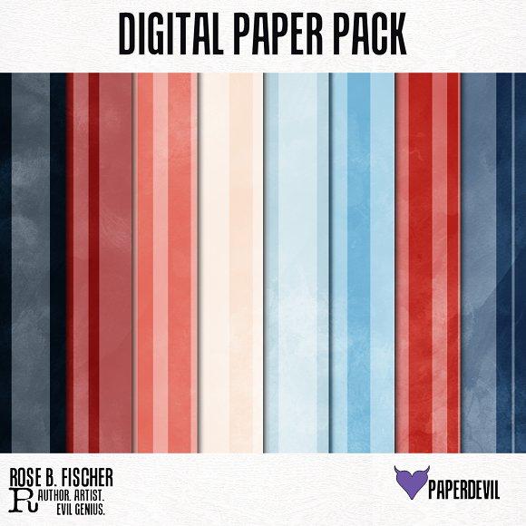 Digital Paper Pack Stripes