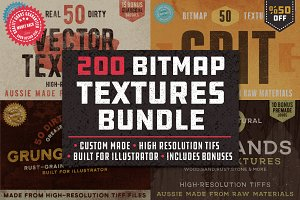 200 Grunge Bitmap Textures Bundle