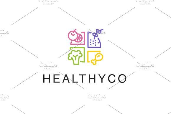 Ўп Healthy Food Logo Ўп