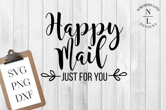 Happy Mail SVG PNG DXF