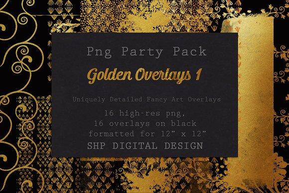 Fancy Golden Overlays Art Pack 1