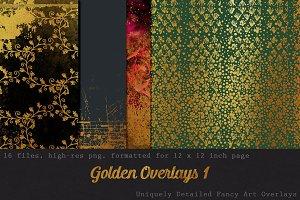 Fancy Golden Overlays:  Art Pack 1