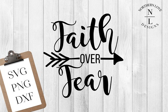 Faith Over Fear SVG PNG DXF