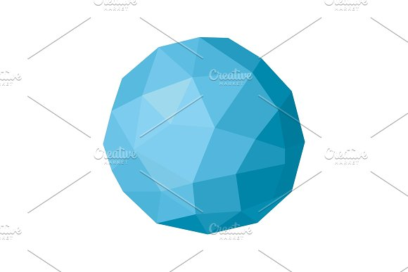 Ball sphere polygon illustration of a modern design element vector faces