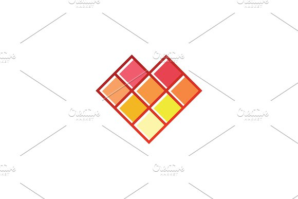 Pixel Fire In Minimalism Abstract Geometric Design