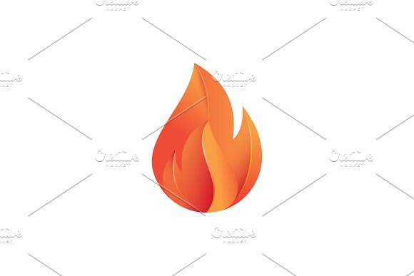 Flames Of Fire Illustration Modern Design In Gradients With Quality Volume