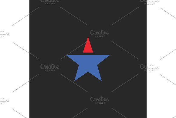 Star Flat Abstract Design Modern Minimalist
