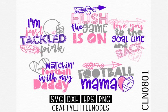 Football Design Bundle SVGS