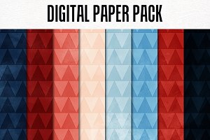 Digital Paper Pack: Triangles