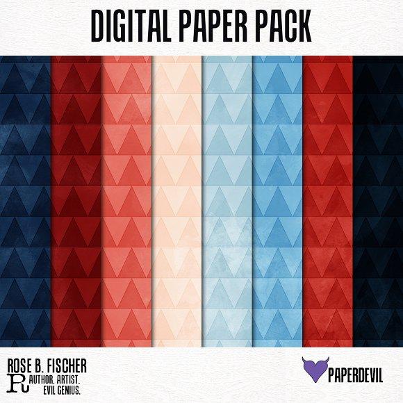 Digital Paper Pack Triangles