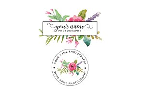 Floral Your Name Premade Logo