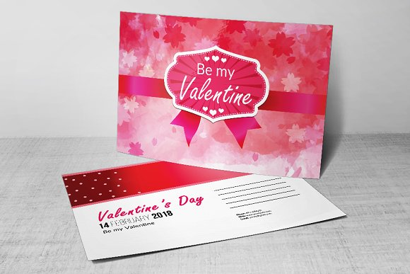 Valentines Day Party Flyer Postcard