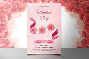 Valentine's Day Party Flyer V729