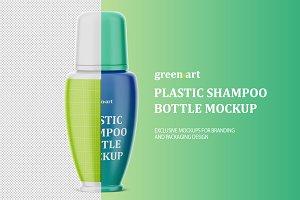Matte Plastic Shampoo Botle Mockup