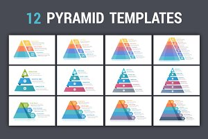 Pyramid Infographics - 12 Templates