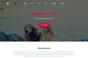 Vett - Animal Hospital Template