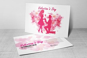 Valentine's Day Party Postcard