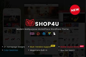 Shop4U - MarketPlace WordPress Theme