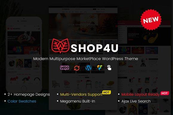 Shop4U MarketPlace WordPress Theme