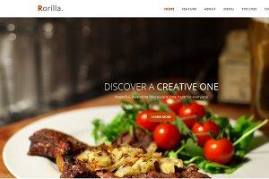 Rorilla. - Restaurant One Page