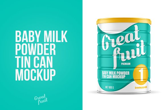 Download Milk Powder Tin Can Mockup