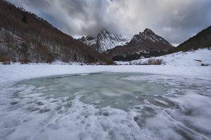 Ezcaurre peak over Zuriza valley in