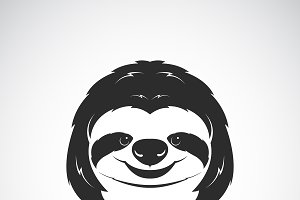 Vector of a sloth head design.Animal