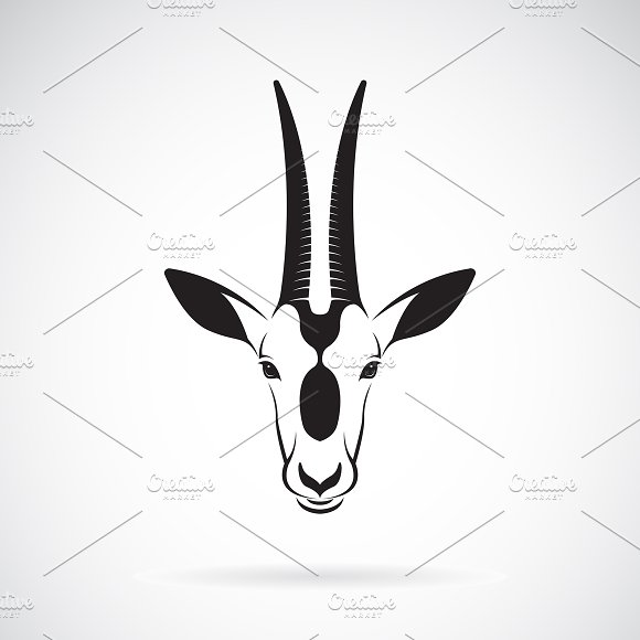 Vector of a Scimitar-horned Oryx.