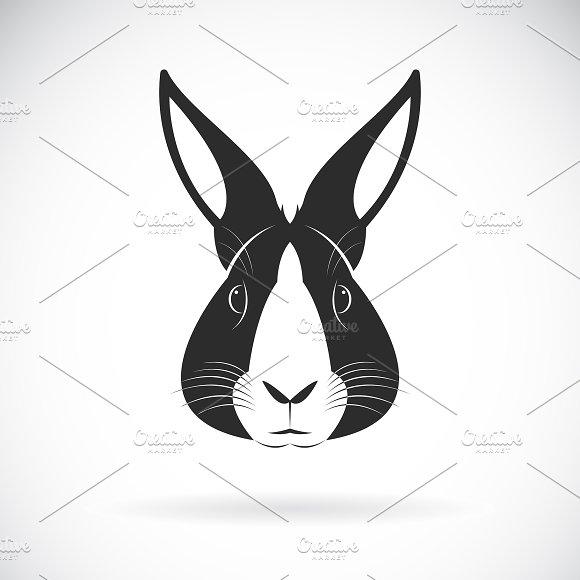 Vector of a rabbit head design.