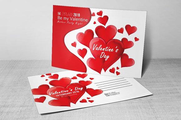 Valentines Day Flyer Postcard