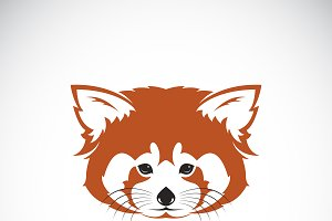 Vector of red panda head design.