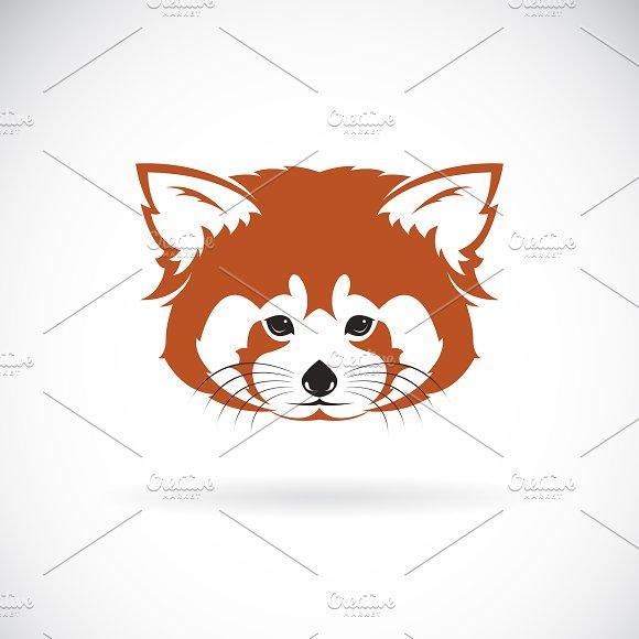 Vector of red panda head design.