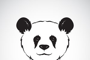 Vector of a panda head design.Animal