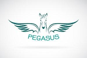 Vector of a horse pegasus design.