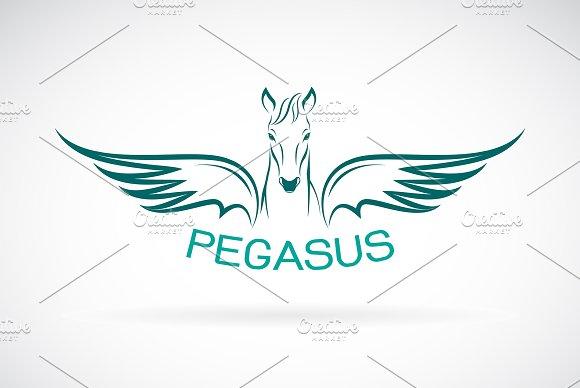 Vector Of A Horse Pegasus Design