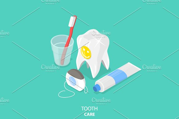 Tooth care in Illustrations