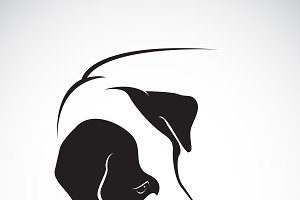 Vector of a dog head design. Animal.