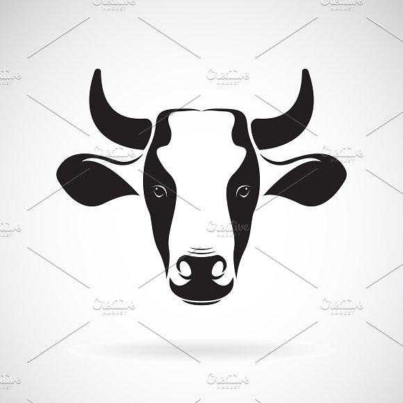 Vector Of A Cow Head Design.Animal