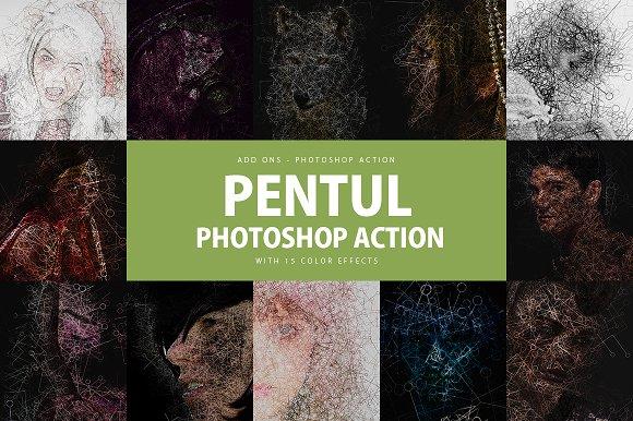 Pentul Photoshop Action